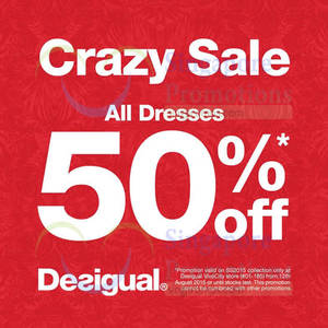 Featured image for Desigual 50% Off All Dresses 15 – 18 Aug 2015