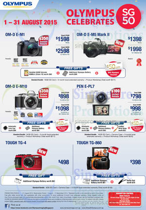 Featured image for Olympus Digital Cameras & Voice Recorders Offers 3 – 31 Aug 2015