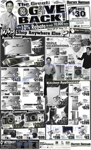 Featured image for Harvey Norman Electronics, Appliances, Furniture & Other Offers 1 – 6 Aug 2015