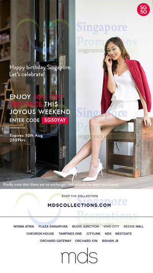 Featured image for MDS Collections 50% Off 3rd Piece Storewide 7 – 10 Aug 2015