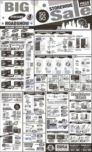 Featured image for Mega Discount Store TVs, Washers, Hobs & Other Appliances Offers 8 Aug 2015