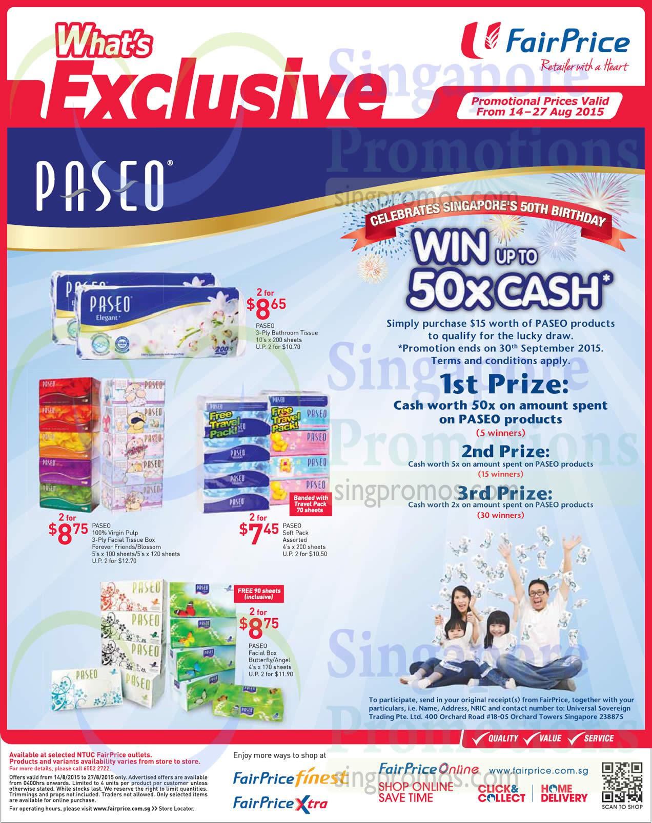Paseo Bathroom Tissues Facial Tissue Packs