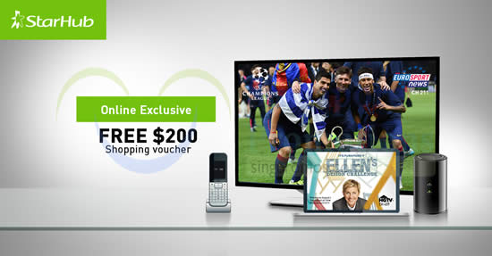 Starhub HomeHub Plans Free $200 Voucher Promo 13 – 18 Aug 2015