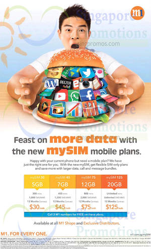 Featured image for M1 Home Broadband, Mobile & Other Offers 1 – 7 Aug 2015