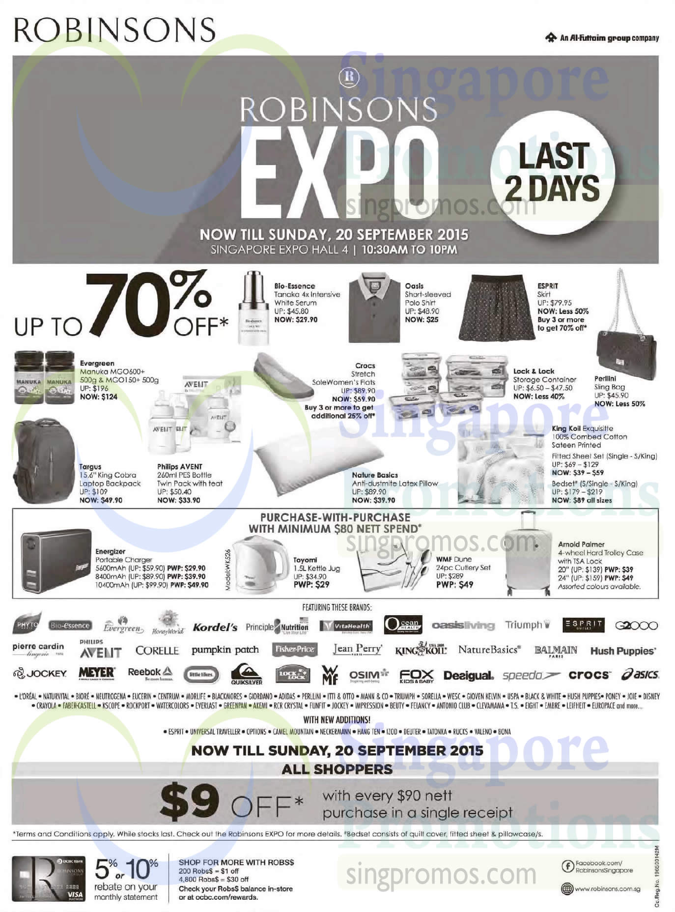 19 Sep Apparels, Supplements, Handbag, Bedsheet Set, Backpack, Purchase  With Purchase, Featured Brands