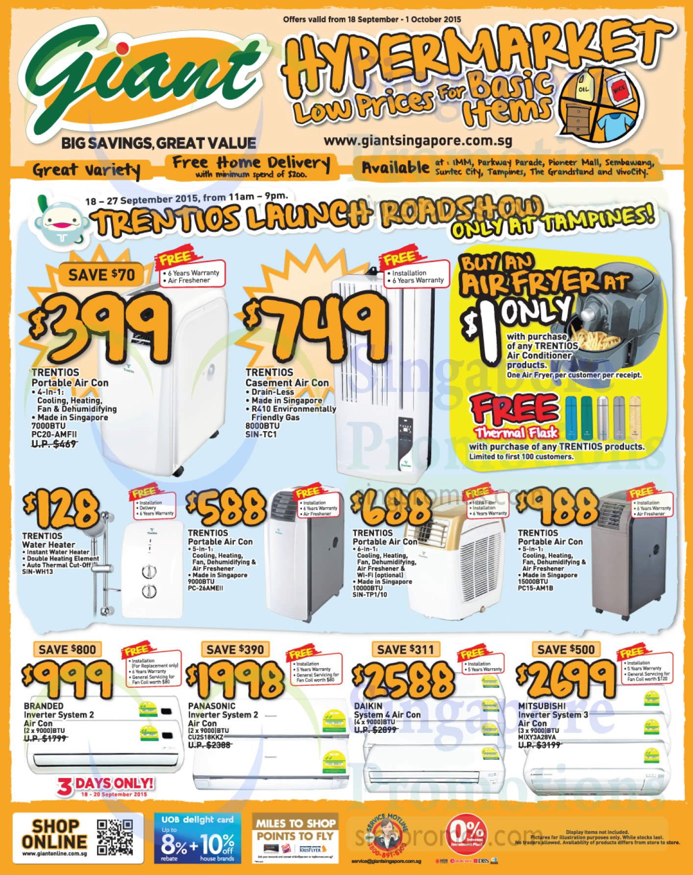Giant Hypermarket Europace Amp Trentios Appliances Offers 19