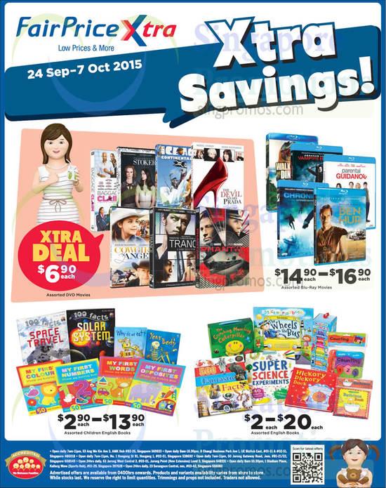 Blu-Ray Movies, English Books, DVD Movies