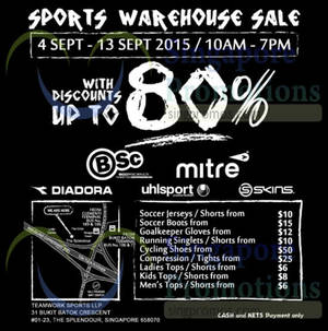 84b247b28d Branded Sports Warehouse Sale   The Splendour 11 – 13 Sep 2015