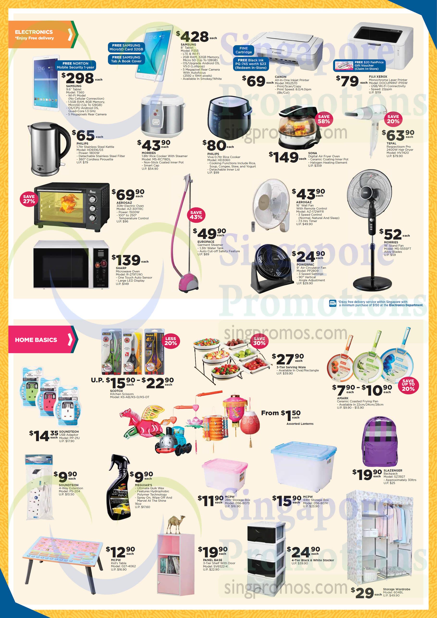 Electronics Home Basics Tablets Rice Cookers Ovens