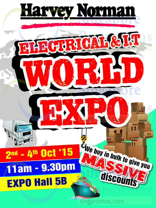 Featured image for Harvey Norman Electrical & I.T World Expo 2 - 4 Oct 2015