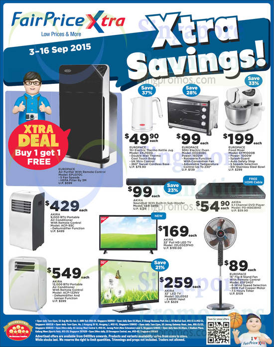 Featured image for Fairprice New Catalogue, Merries, Europace, Akira, Combat, Europace & More Offers 3 - 17 Sep 2015