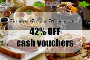 Featured image for Paradise Group of Restaurants 42% Off Cash Vouchers Deal 8 Sep 2015