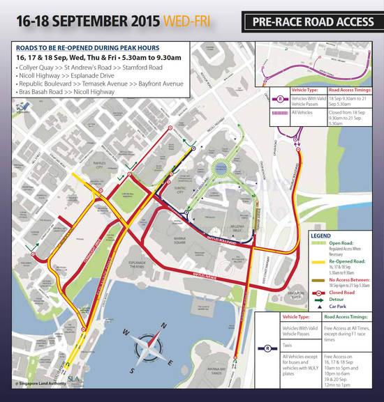 Pre-Race Road Access Road Closures 16 - 18 Sep