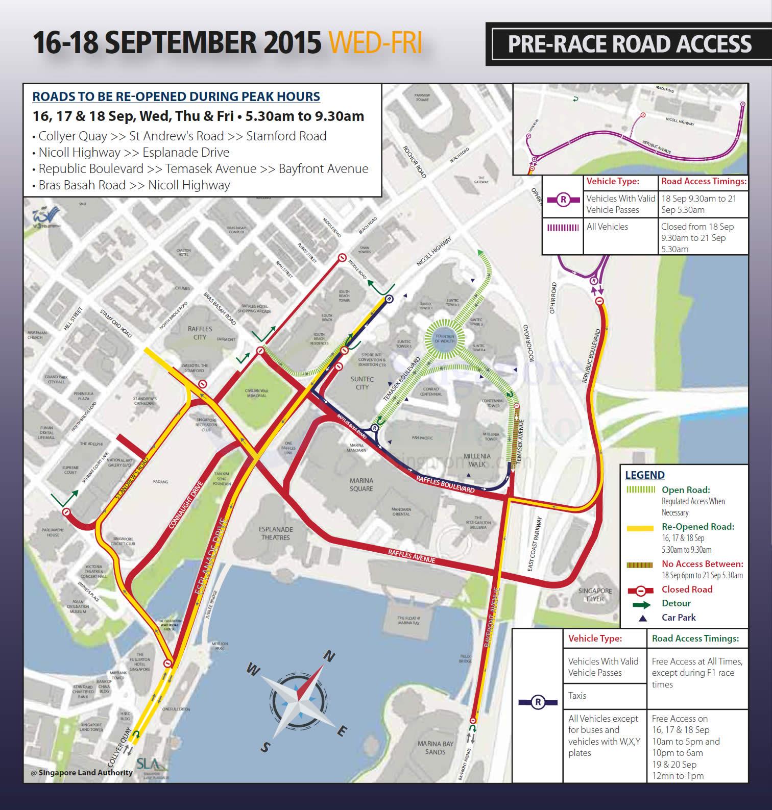 F1 Road Closure Map (Sep 2019)   SINGPromos com