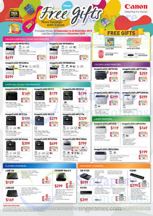 Featured image for Canon Laser & Inkjet Printers & Scanners Offers 24 Sep – 22 Nov 2015
