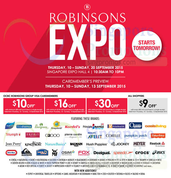 Robinsons Expo Participating Brands