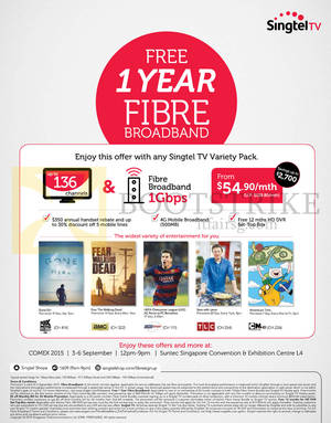 Featured image for Singtel COMEX Broadband, Mobile & TV Offers 3 – 6 Sep 2015