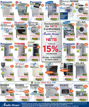 Featured image for Audio House TV, Fridges, Washers & Digital Cameras Offers 25 Sep – 4 Oct 2015