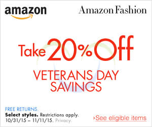Featured image for Amazon.com 20% OFF Fashion Items (NO Min Spend) Coupon Code 31 Oct – 12 Nov 2015