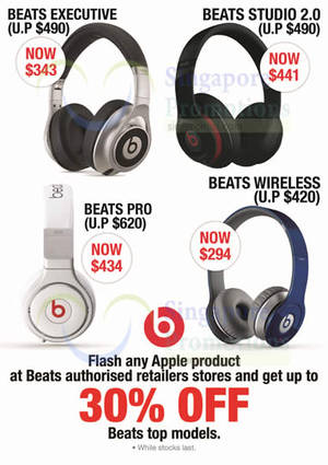 Featured image for Beats Headphones Up To 30% Off For Apple Owners 12 Oct – 31 Dec 2015