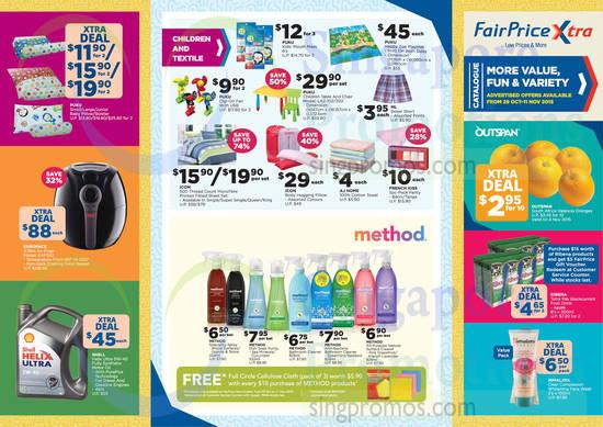 Catalogue Super Saver Children, Textile, Method Sprays, Fruits, Europace Airfryer