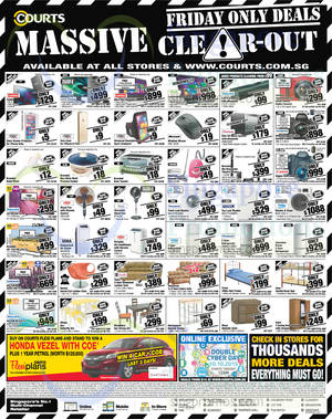 Featured image for Courts Massive Clear-Out 1-Day Deals 9 Oct 2015