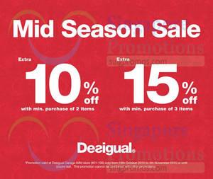 Featured image for Desigual Mid-Season Sale @ IMM 19 Oct – 4 Nov 2015