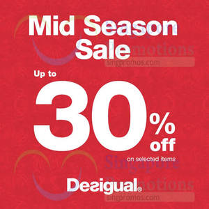 Featured image for Desigual Mid Season Sale From 19 Oct 2015