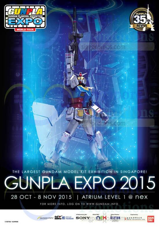 Featured image for Gunpla Gundam Plamodel Exposition World Tour Expo @ Nex 28 Oct - 8 Nov 2015
