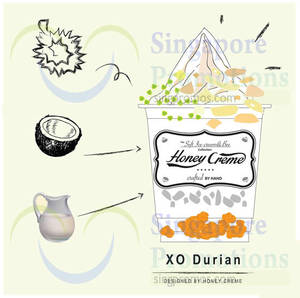 Featured image for HoneyCreme 1-for-1 XO Durian 1-Day Promo 24 Oct 2015