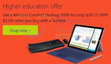 Microsoft Surface Buy & Get 75% Off Wireless Desktop Combo ...