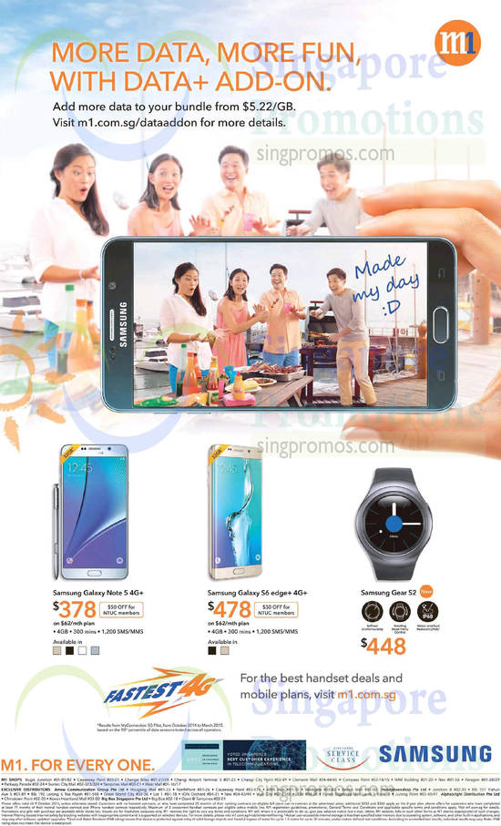 Mobile Phones Samsung Galaxy Note 5, Samsung Galaxy S6 Edge, Samsung Galaxy Gear 2