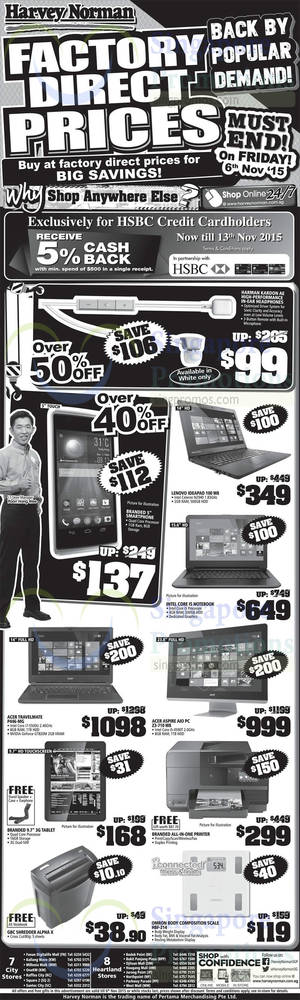 Featured image for Harvey Norman Electronics, Appliances, IT & Other Offers 31 Oct – 6 Nov 2015