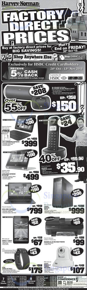Featured image for Harvey Norman Electronics, Appliances, IT & Other Offers 24 – 30 Oct 2015