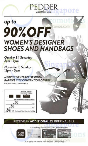 Featured image for Pedder Warehouse SALE @ Raffles City Convention Centre 31 Oct – 1 Nov 2015