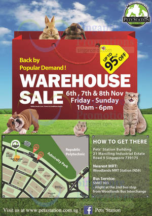 Featured image for Pets' Station Warehouse Sale 6 – 8 Nov 2015