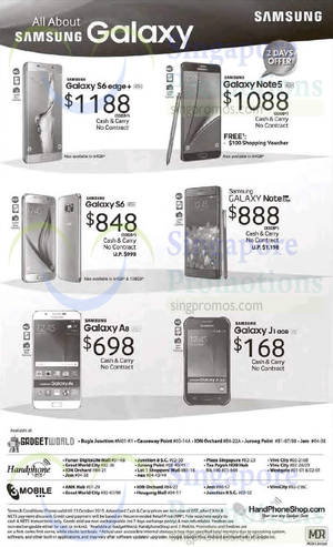 Featured image for Samsung Galaxy No Contract Offers From 18 Oct 2015
