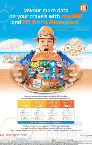 Featured image for M1 Home Broadband, Mobile & Other Offers 24 – 30 Oct 2015