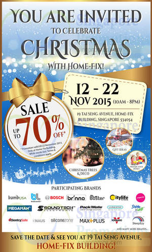 Featured image for Home-Fix Warehouse Sale 12 – 22 Nov 2015