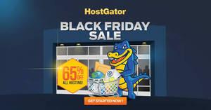 Featured image for HostGator Web Hosting 65% OFF Black Friday 24hr Promo 30 Nov – 1 Dec 2015