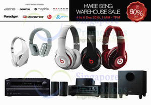 Featured image for Hwee Seng Audio Warehouse Sale 4 – 6 Dec 2015