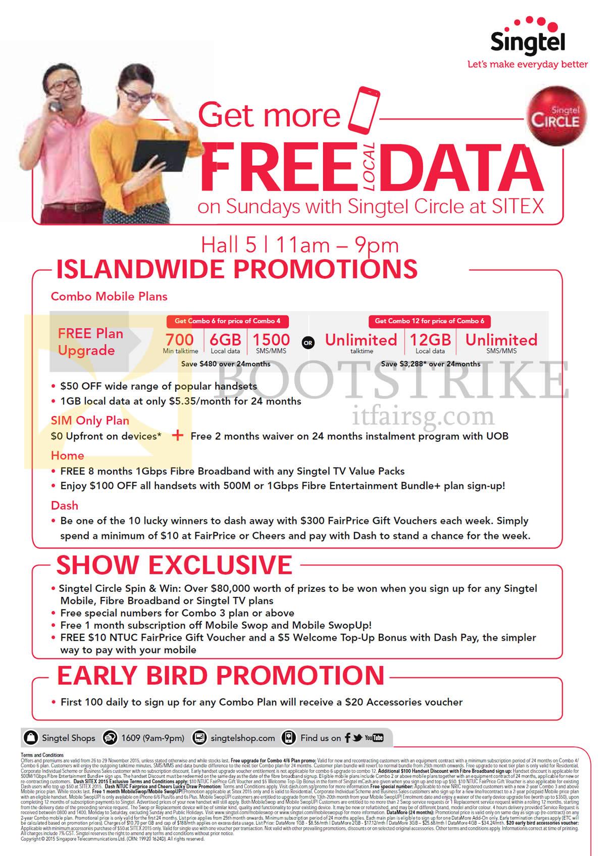 Singtel SITEX 2015 Broadband, Mobile & TV Offers 26 – 29 Nov