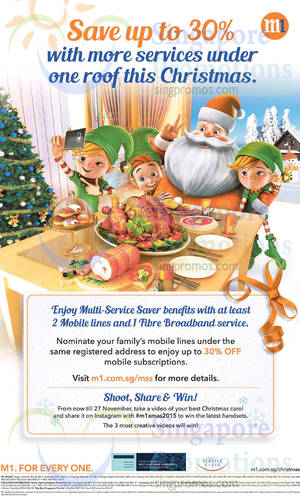 Featured image for M1 Home Broadband, Mobile & Other Offers 14 – 20 Nov 2015