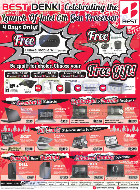 The essential i5 notebooks., Lenovo 300-131SK Ideapad Notebook, ASUS X556UB-XOQ0T Notebook, ASUS UX305CA-FC004T Notebook free additional portable DVD writer, Acer V3-372T Notebook free additional portable DVD writer, Acer E5-474G-79H1 Iron Notebook choose 1 additional free gift, Lenovo 500-15-80NTD032SB Ideapad Notebook, Lenovo Yoga 500 Notebook, ASUS K501UX-DM079T Notebook, Dell 3250-640412G W10-BLK CPU, ASUS M32CD-SG005T CPU, Acer VN7-592G-79KR Notebook and Alienware AW15-670113G-W10 BLK GTX970 Notebook
