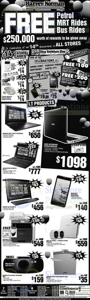 Featured image for Harvey Norman Electronics, Appliances, Furniture & Other Offers 15 – 20 Nov 2015