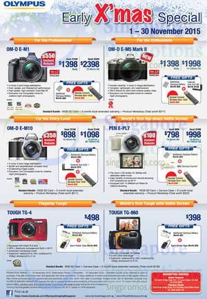 Featured image for Olympus Digital Cameras Offers 2 – 30 Nov 2015