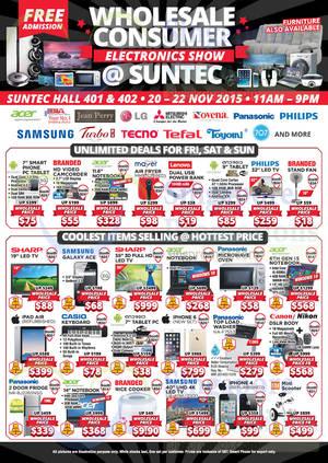 Featured image for Wholesale Consumer Electronics Show @ Suntec 20 – 22 Nov 2015