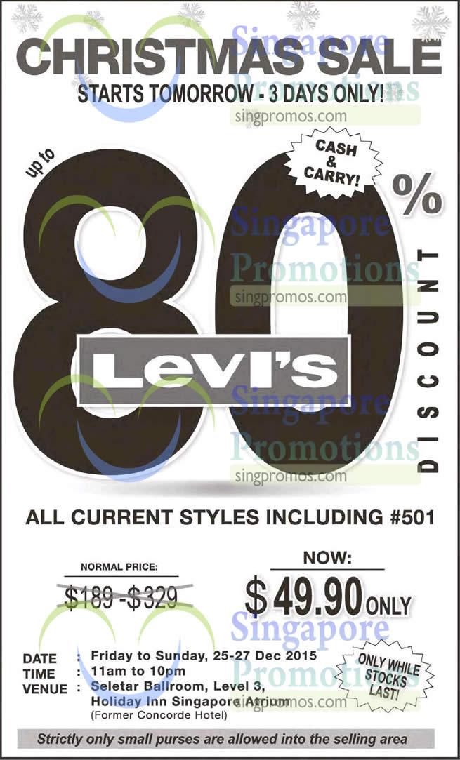 Levis Christmas Sale 24 Dec 2015