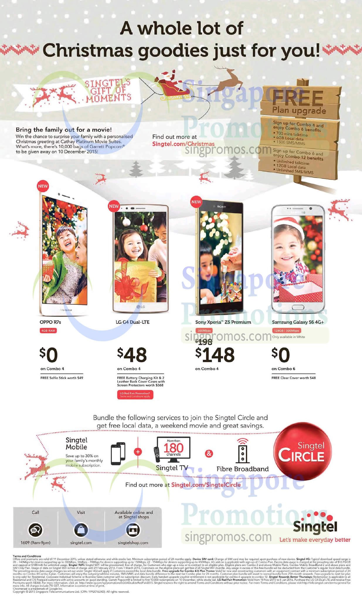 Singtel Mobile Combo 4/6 Plans Free Upgrade Promotion From 5 Dec 2015