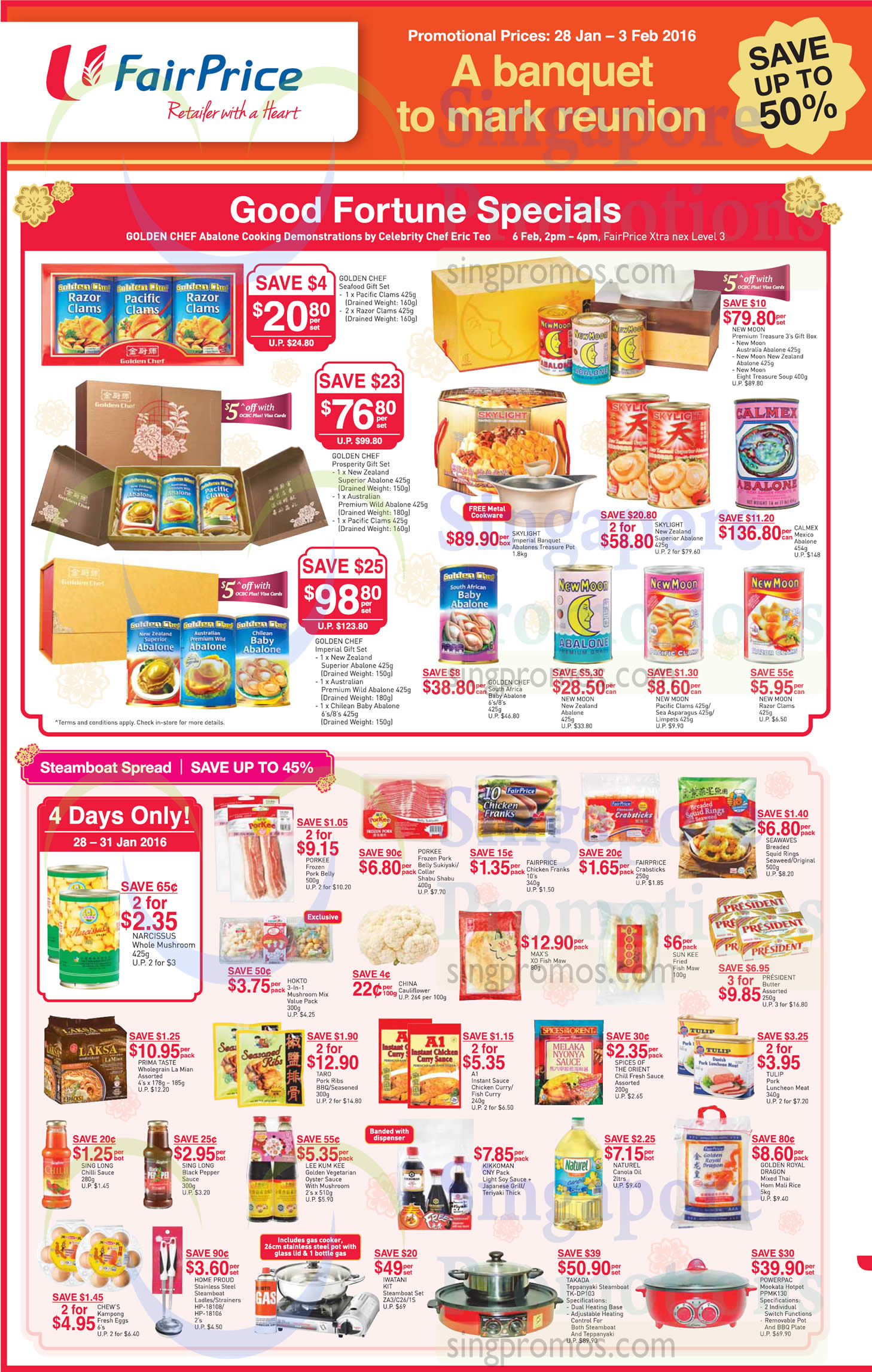 Abalone Offers Steamboat Spread 187 Fairprice Abalones New